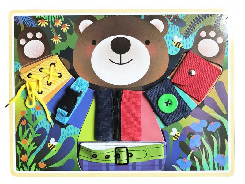 игрушка азбукварик мишка косолапый 4680019281858 Бизиборд База игрушек Мишка косолапый 4660007764150
