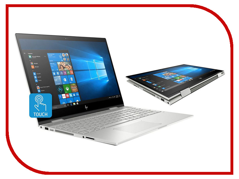 Купить Ноутбук HP Envy x360 15-cn0008ur 4HC88EA Natural Silver (Intel Core i5-8250U 1.6 GHz/16384Mb/1000Gb + 256Gb SSD/nVidia GeForce MX150 4096Mb/Wi-Fi/Cam/15.6/1920x1080/Touchscreen/Windows 10 64-bit), HP (Hewlett Packard)