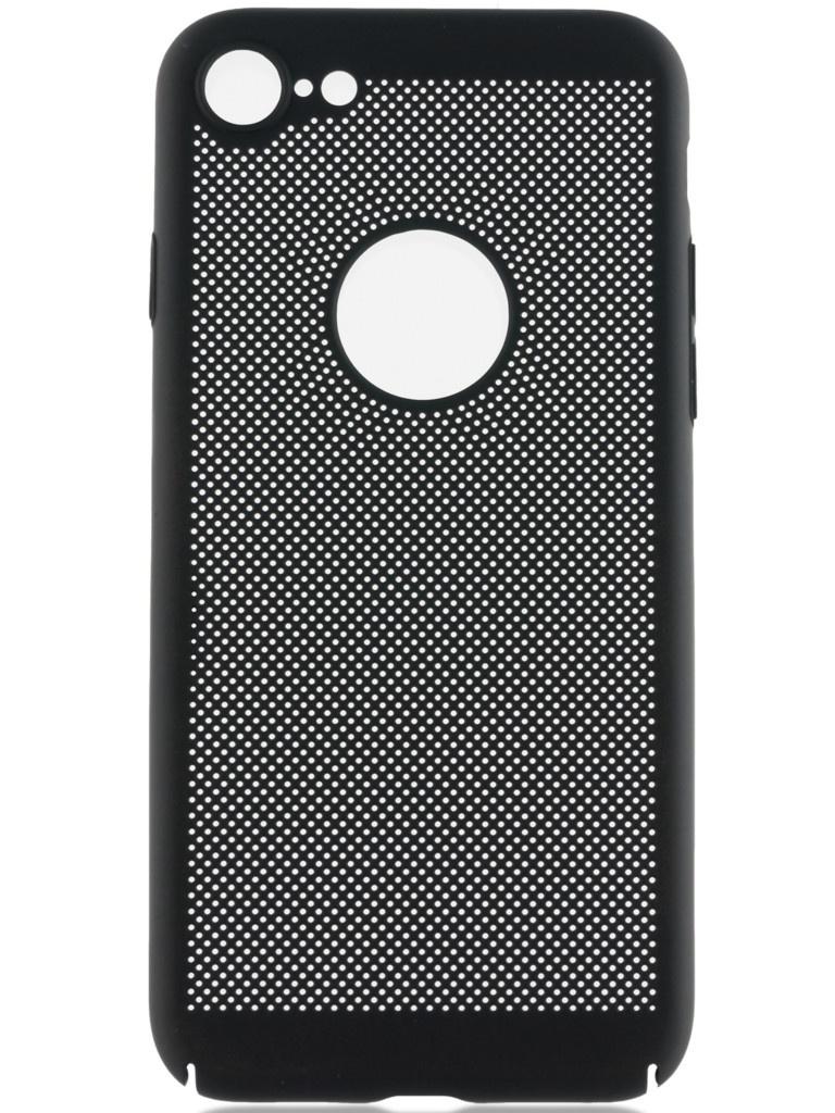 смартфон turbo x5 black 8 гб черный Аксессуар Чехол Brosco для APPLE iPhone 8 Perforated Black IP8-HOLE-BLACK