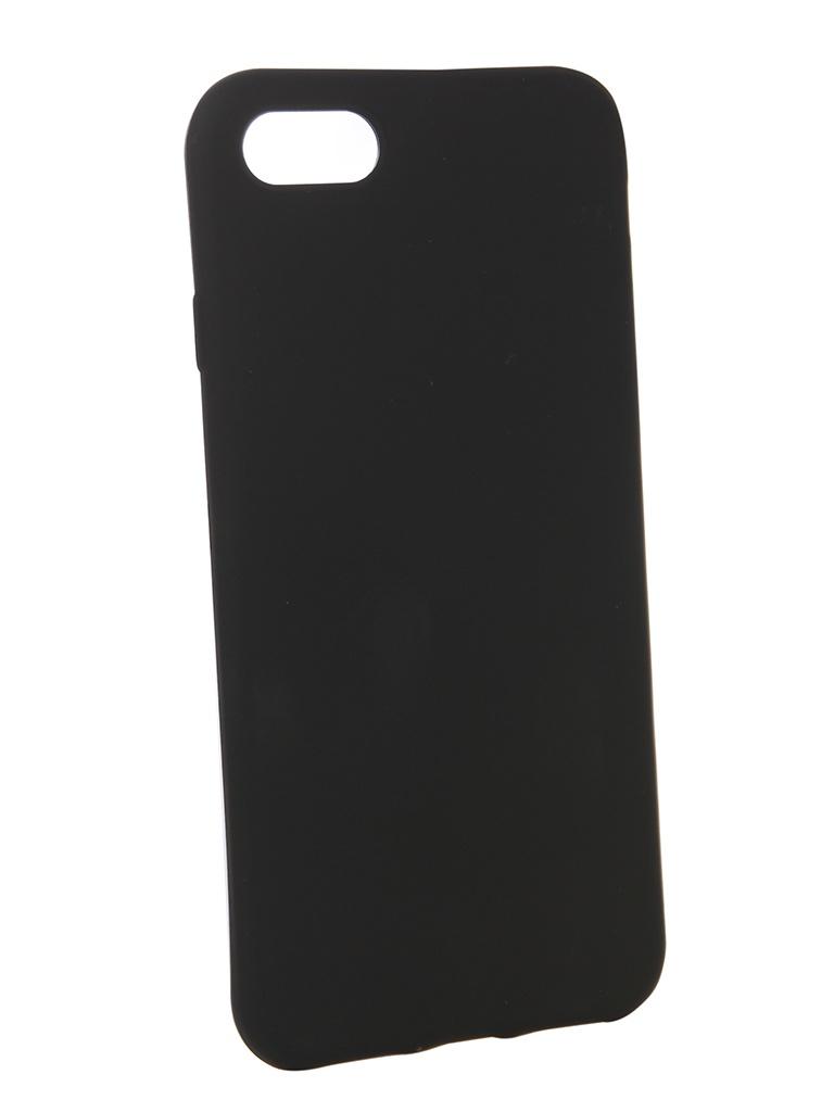 смартфон turbo x5 black 8 гб черный Аксессуар Чехол Brosco для APPLE iPhone 8 Black Matte IP8-COLOURFUL-BLACK