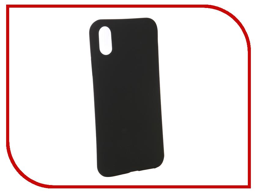 Купить Аксессуар Чехол для APPLE iPhone XS Brosco Black Matte IPXS-COLOURFUL-BLACK
