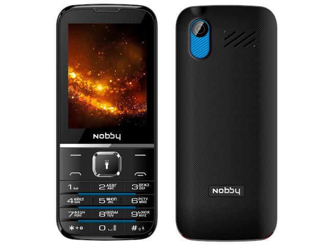 сотовый телефон fly slimline black blue Сотовый телефон Nobby 310 Black-Blue