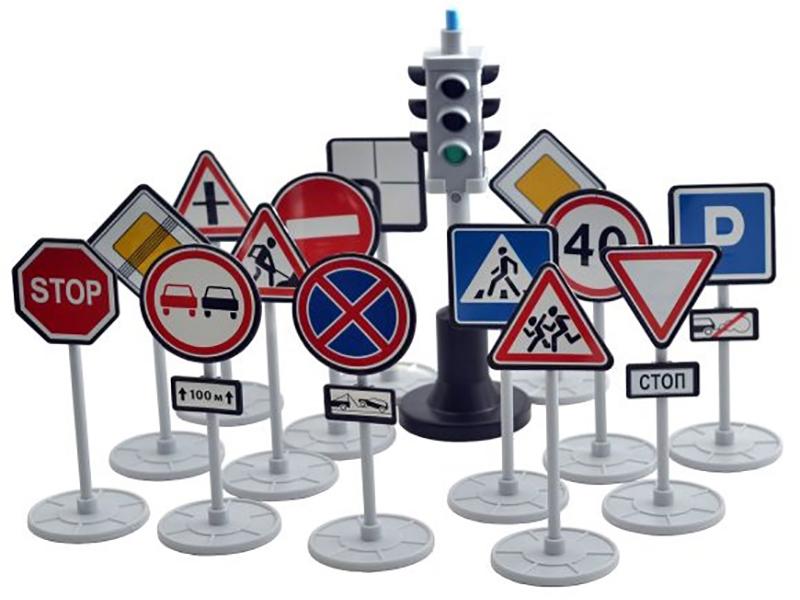 Игрушка Игровой набор Форма Светофор с дорожными знаками С-159-Ф
