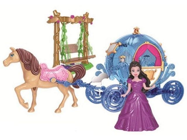 игрушка наша игрушка экскаватор снегоуборочный 6655 6 Игровой набор Наша игрушка Карета Каникулы принцессы SS027A