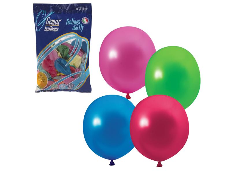 накладной светильник il 0001 imx il 0001 0100 Набор воздушных шаров Веселая затея 10-inch 100шт Металлик Ассорти 1101-0001