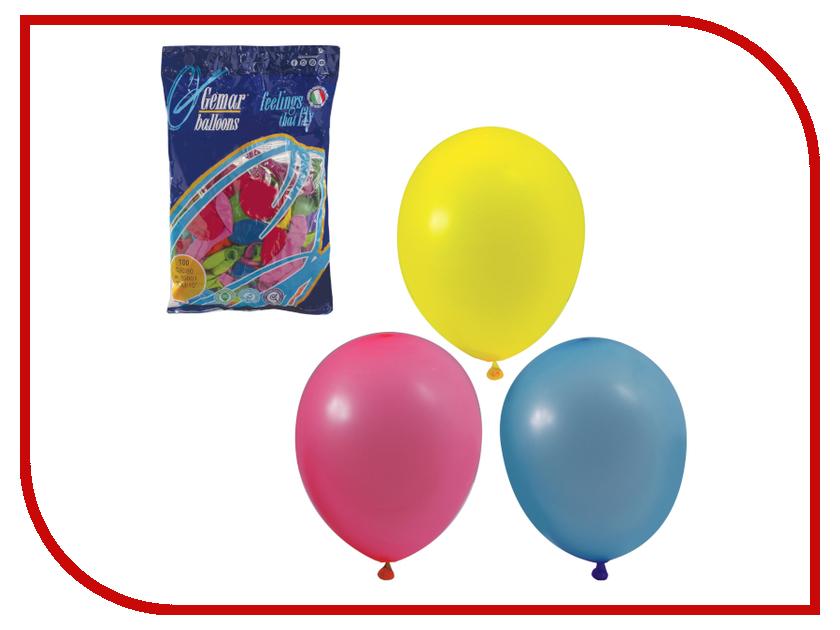 Купить Набор воздушных шаров Веселая затея 10-inch 100шт Пастель Ассорти 1101-0003, Италия