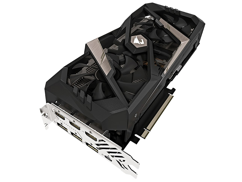 видеокарта gigabyte geforce gtx 1660 ti aorus 1890mhz pci e 3 0 6144mb 12000mhz 192 bit hdmi 3xdp gv n166taorus 6gd Видеокарта GigaByte GeForce RTX 2070 AORUS XTREME 1815Mhz PCI-E 3.0 8192Mb 14142Mhz 256 bit UCB-C 3xHDMI 3xDP GV-N2070AORUS X-8GC