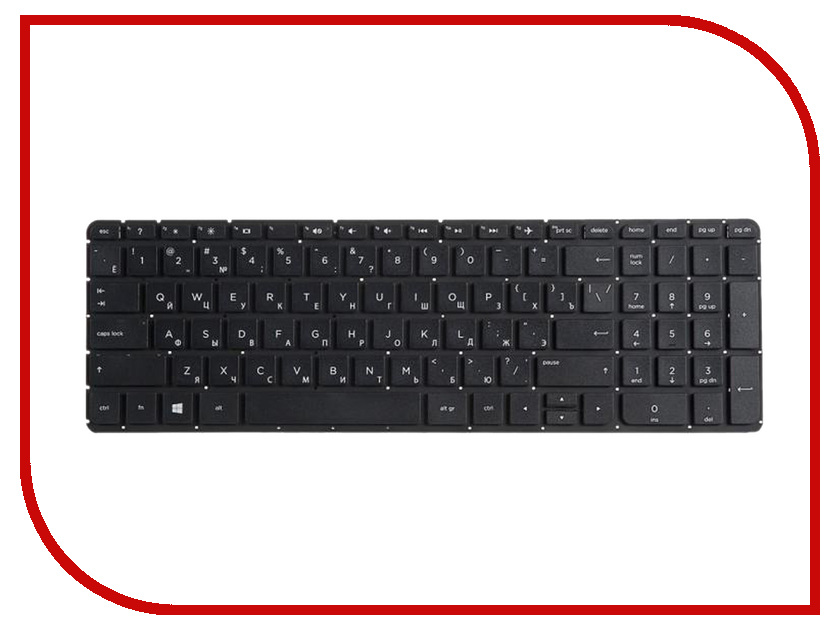 Купить Клавиатура RocknParts для HP Pavilion 15-p/17-f Black 397237