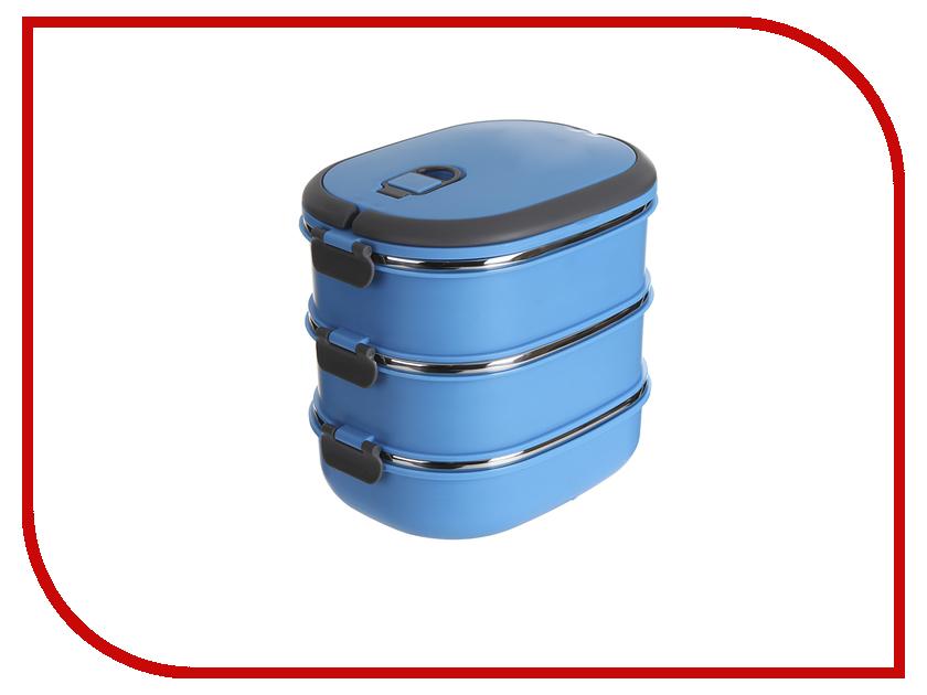 Ланч-бокс Gipfel в форме эллипса 3шт Blue 0293  - купить со скидкой