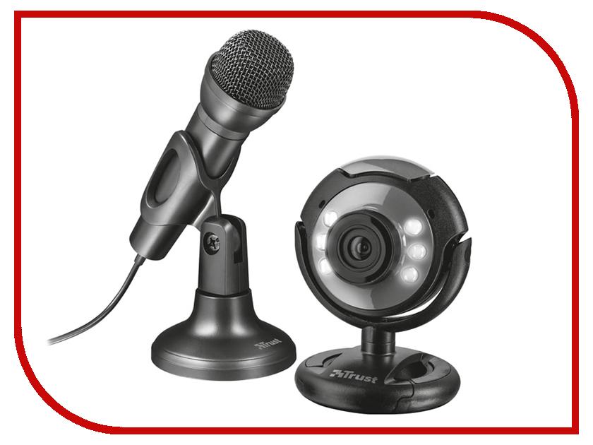 Купить Вебкамера Trust Spotlight Streaming Pack Black