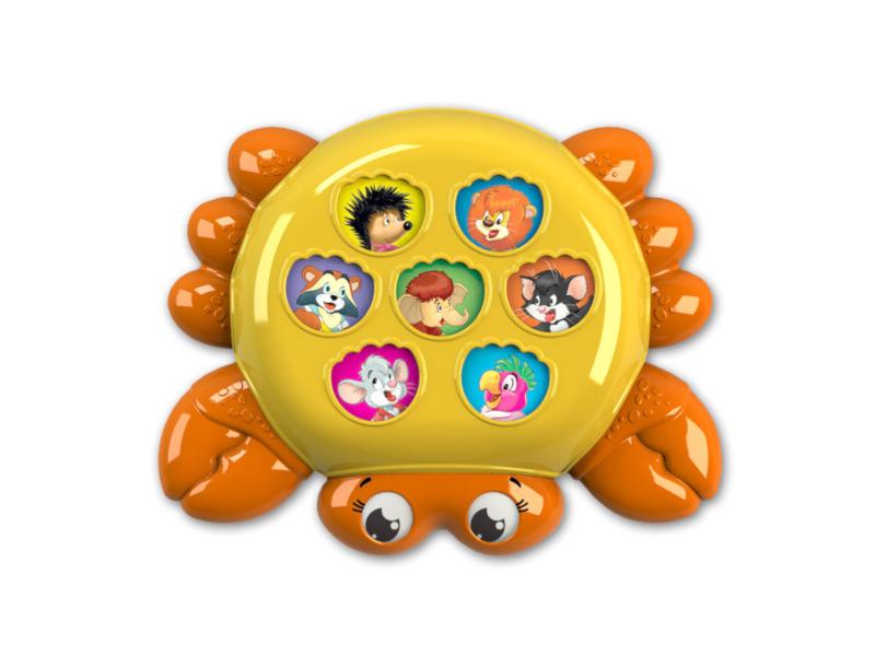 игрушка азбукварик веселушки курочка 4680019282657 Игрушка Азбукварик Крабик 4680019281674