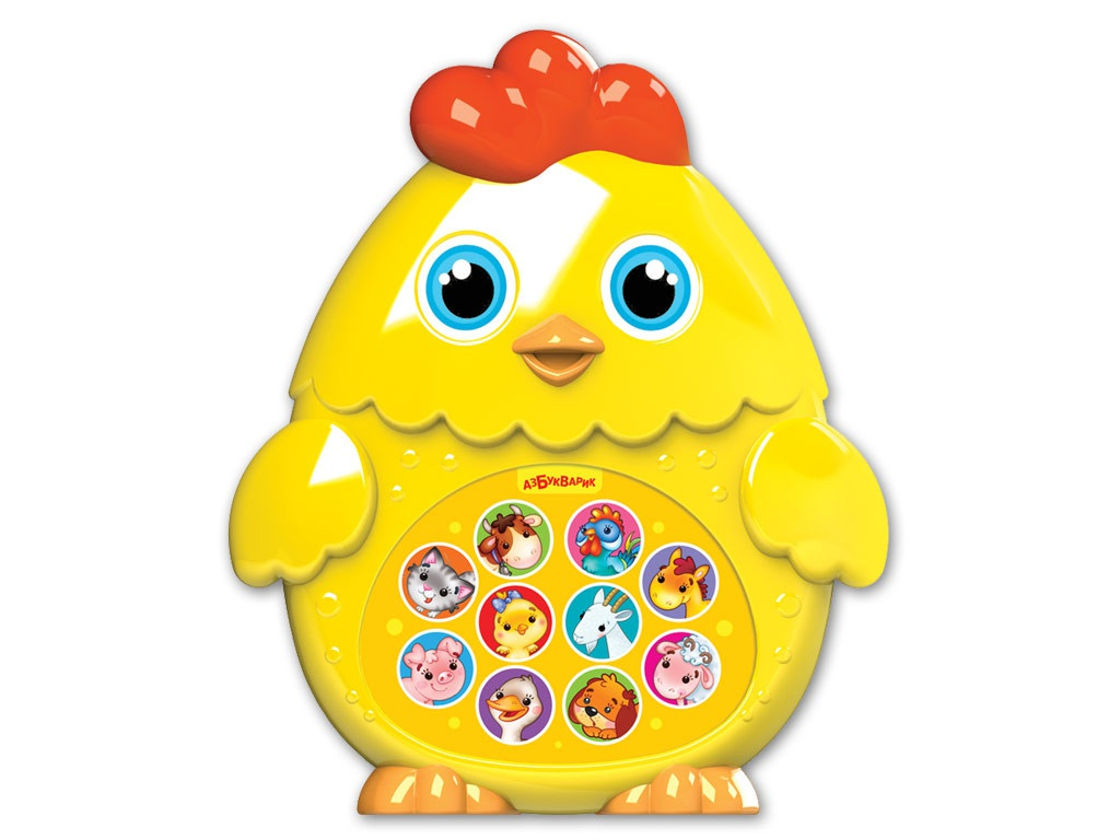 игрушка азбукварик веселушки курочка 4680019282657 Игрушка Азбукварик Цыплёнок 4680019282312