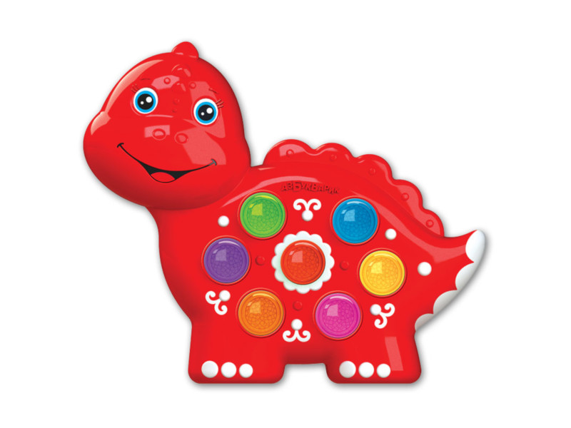 игрушка азбукварик веселушки курочка 4680019282657 Игрушка Азбукварик Веселушки Динозаврик 4680019282640