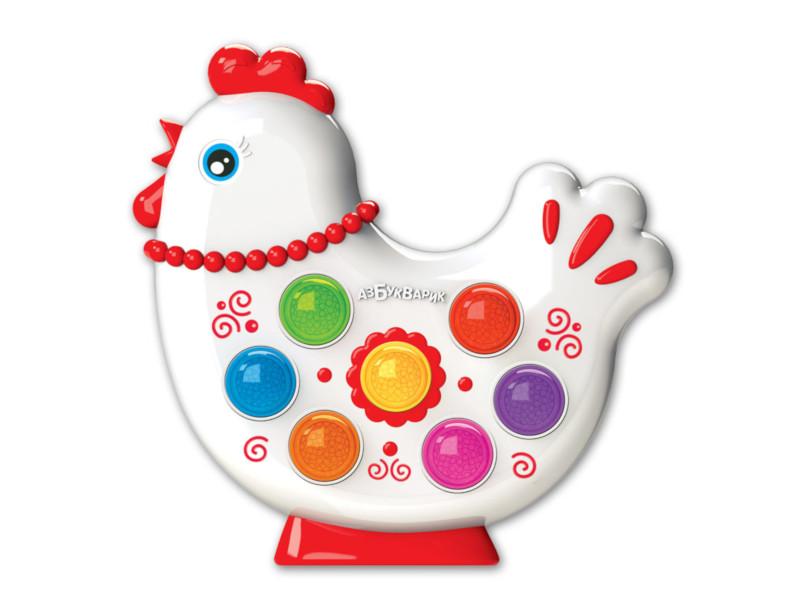 игрушка азбукварик мишка косолапый 4680019281858 Игрушка Азбукварик Веселушки Курочка 4680019282657