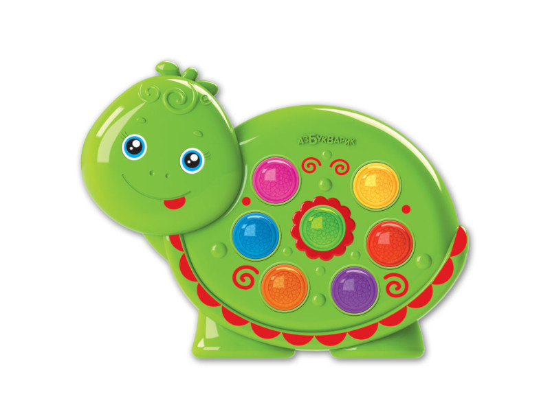 игрушка азбукварик мишка косолапый 4680019281858 Игрушка Азбукварик Веселушки Черепашка 4680019282671