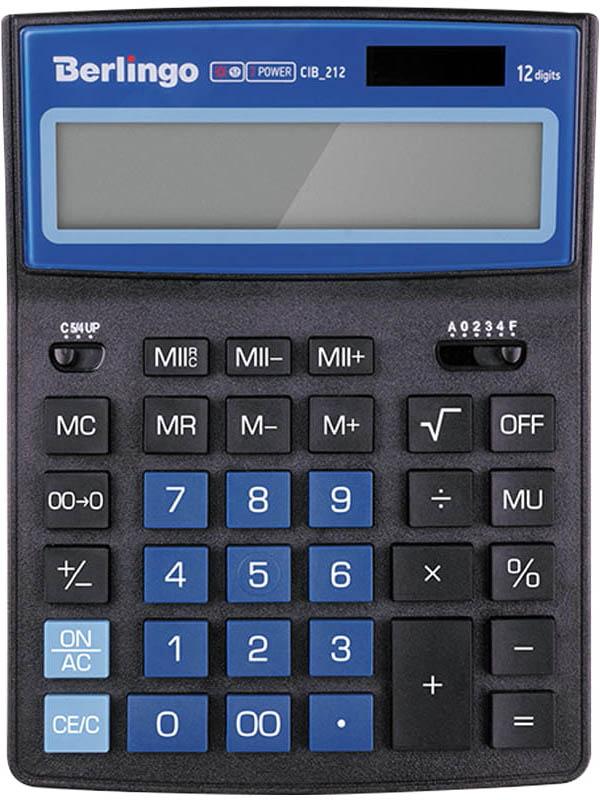 лоток горизонтальный berlingo steel & style silver bms 41031 Калькулятор Berlingo City Style Black-Blue CIB_212 - двойное питание