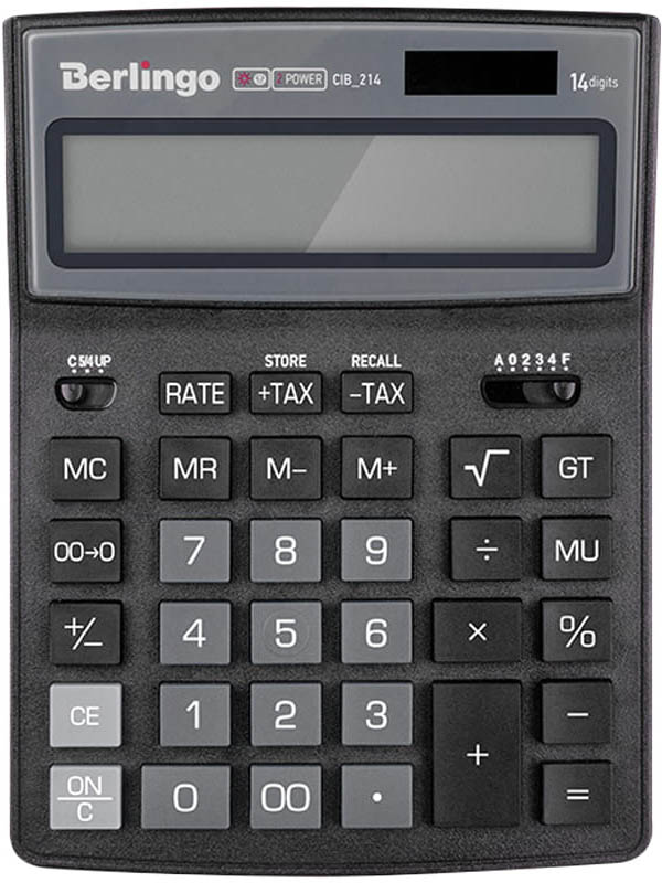 лоток горизонтальный berlingo steel & style silver bms 41031 Калькулятор Berlingo City Style Black-Grey CIB_214 - двойное питание