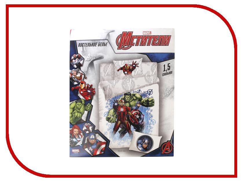 Купить Постельное белье Marvel Halk, Iron Man, Captain America Комплект 1.5 спальный Поплин 724742