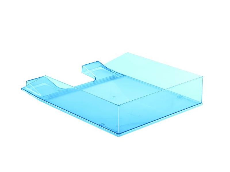 лоток горизонтальный berlingo steel & style silver bms 41031 Лоток горизонтальный Attache Selection Flamingo Transparent-Blue 877399