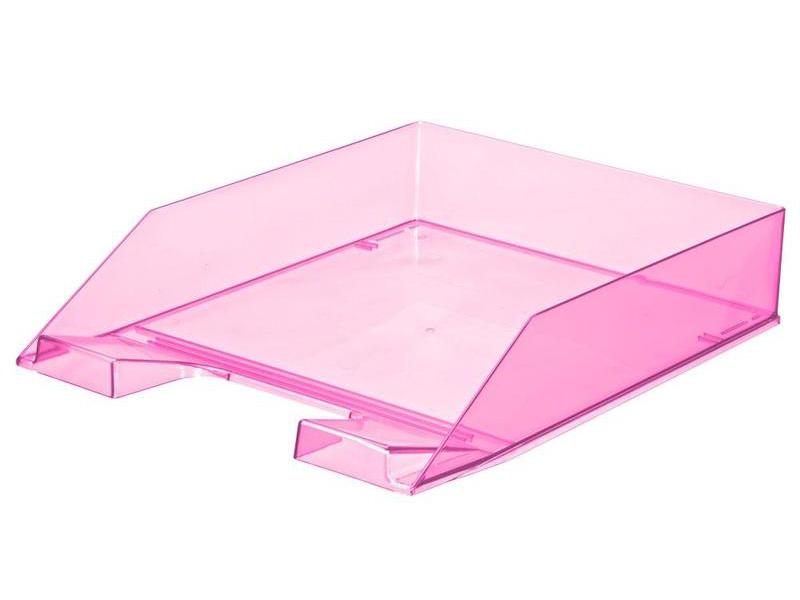 лоток горизонтальный berlingo steel & style silver bms 41031 Лоток горизонтальный Attache Selection Flamingo Transparent-Pink 877400