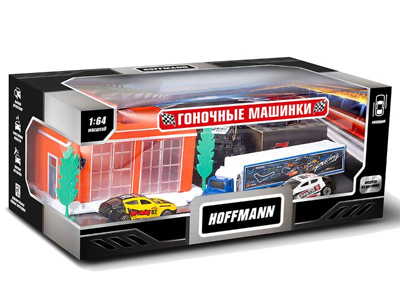 игрушки для детей машинки Игрушка Hoffmann Набор машин Гоночные машинки 72302