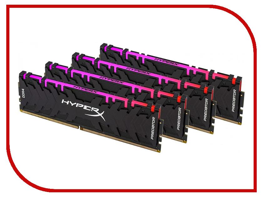 Купить Модуль памяти Kingston HyperX Predator DDR4 DIMM 3200MHz PC4-25600 CL16 - 32Gb KIT (4x8Gb) HX432C16PB3AK4/32