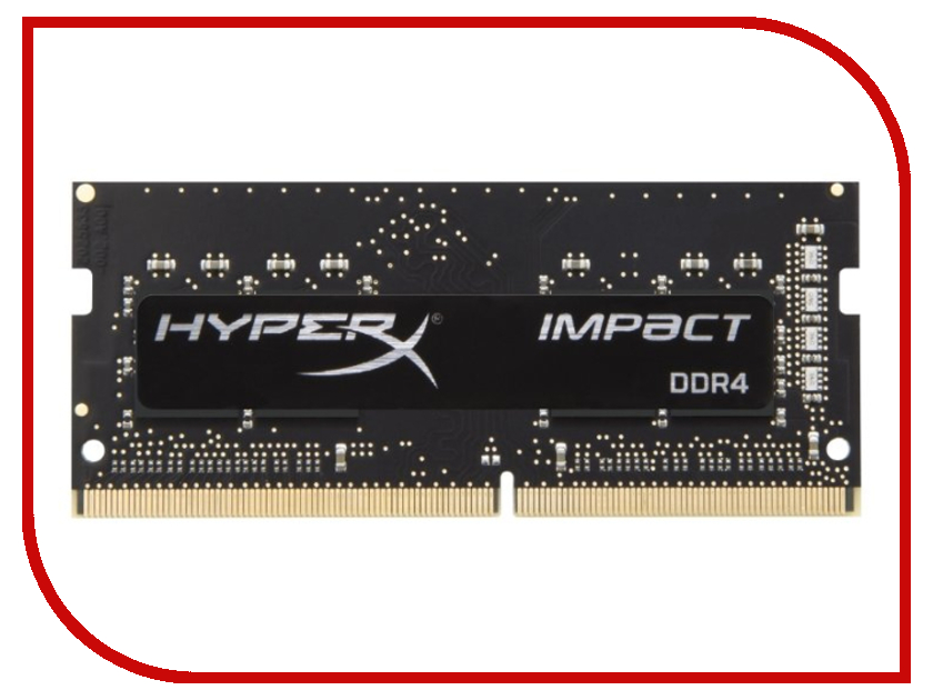 Купить Модуль памяти Kingston HyperX Impact DDR4 SODIMM 2933MHz PC4-23400 CL17 - 8Gb HX429S17IB2/8