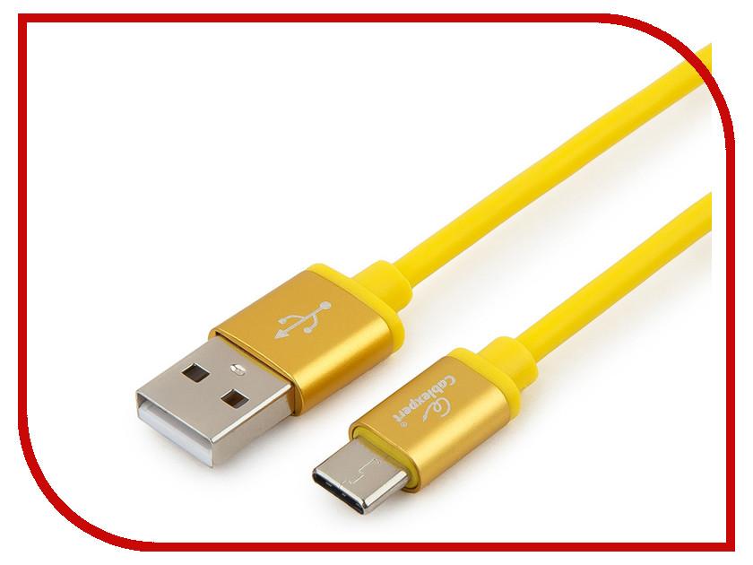 Купить Аксессуар Gembird Cablexpert Silver Series USB 2.0 - USB Type-C 1m Yellow CC-S-USBC01Y-1M