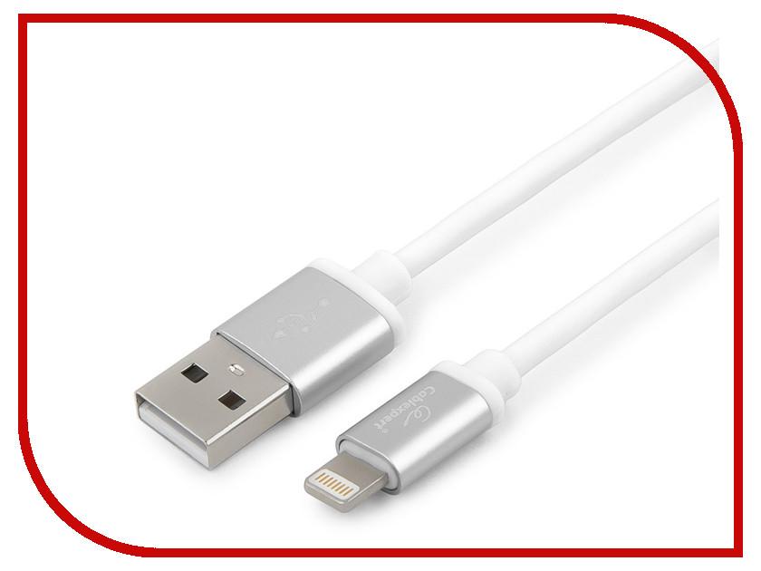 Купить Аксессуар Gembird Cablexpert Silver Series USB - Lightning 0.5m White CC-S-APUSB01W-0.5M