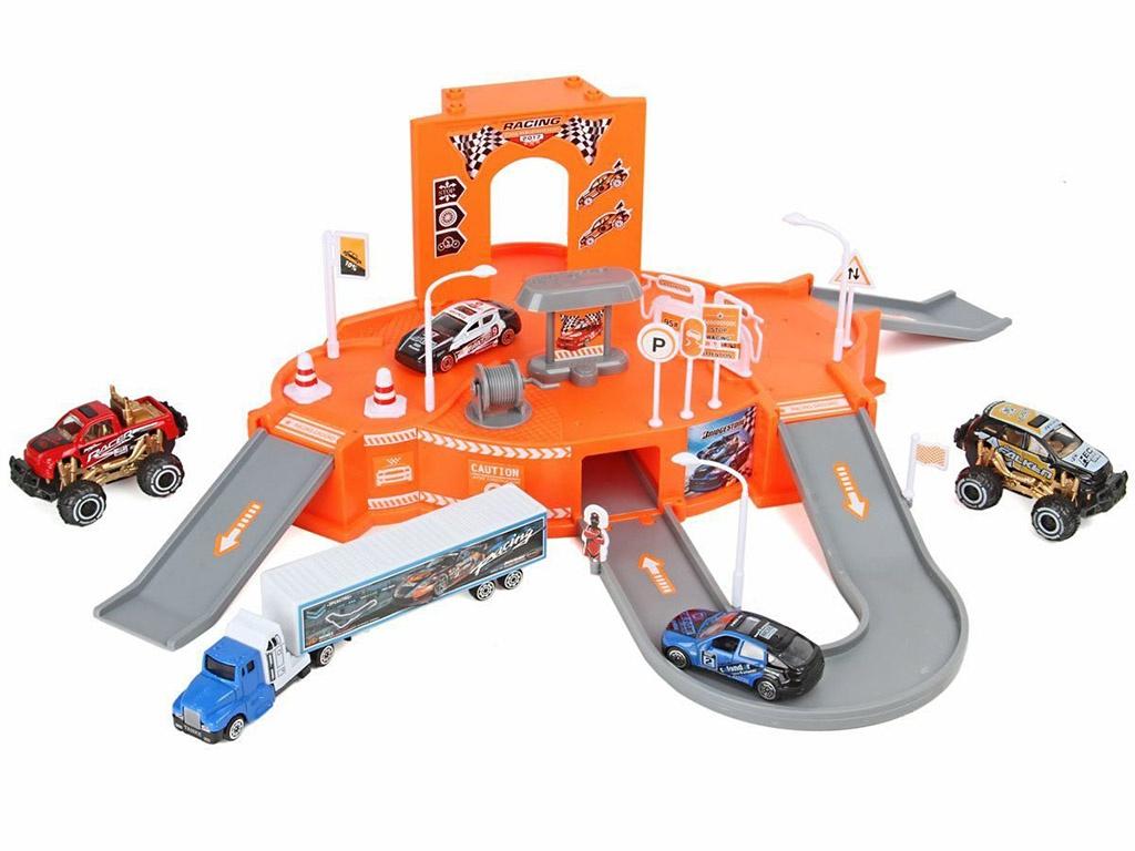 игрушка наша игрушка парковка дорожные работы p2029 Игрушка DIY Парковка Ралли 72766