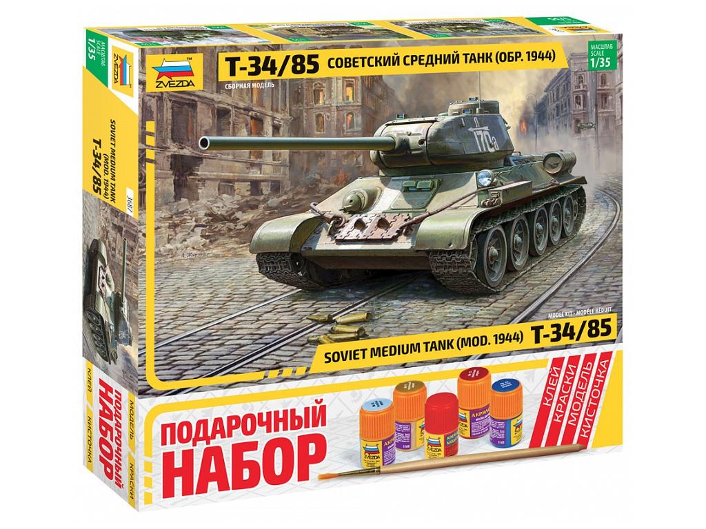 сборная модель zvezda советский тяжелый танк т 35 5061 Сборная модель Zvezda Советский средний танк Т-34/85 3687ПН