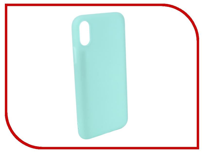 Купить Аксессуар Чехол Pero для APPLE iPhone XS Soft Touch Turquoise PRSTC-IXSC