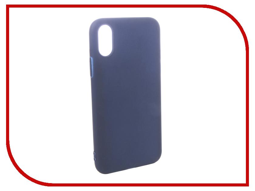 Купить Аксессуар Чехол Pero для APPLE iPhone XS Soft Touch Blue PRSTC-IXSBL