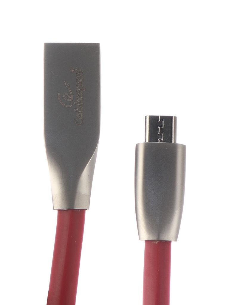 Фото - Аксессуар Gembird Cablexpert USB AM/microBM 1m Red CC-G-mUSB01R-1M аксессуар gembird cablexpert usb am microbm 50cm gold cc g musb02cu 0 5m