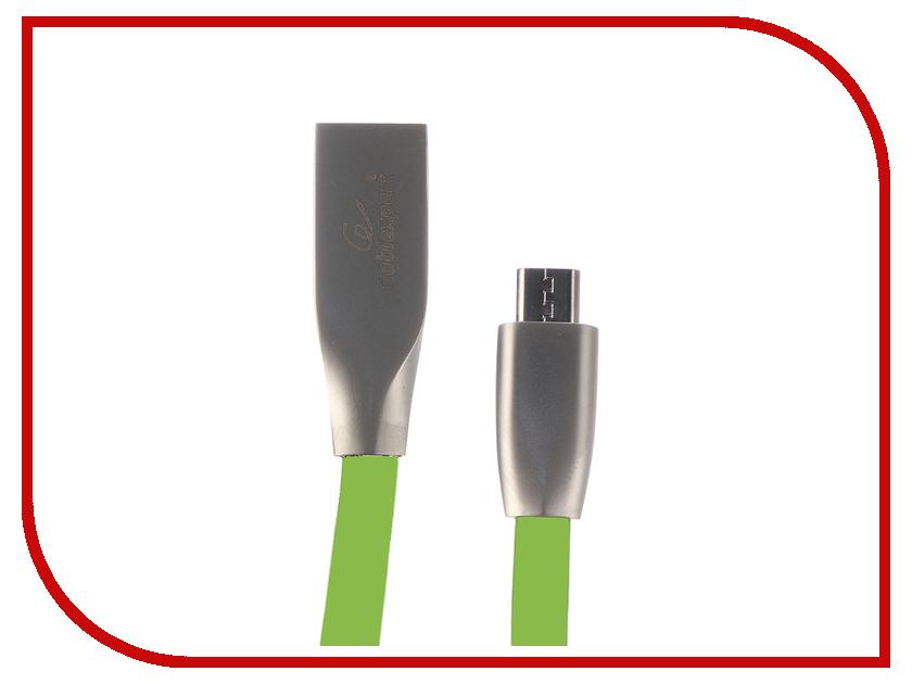 Купить Аксессуар Gembird Cablexpert USB AM/microBM 1m Green CC-G-mUSB01Gn-1M
