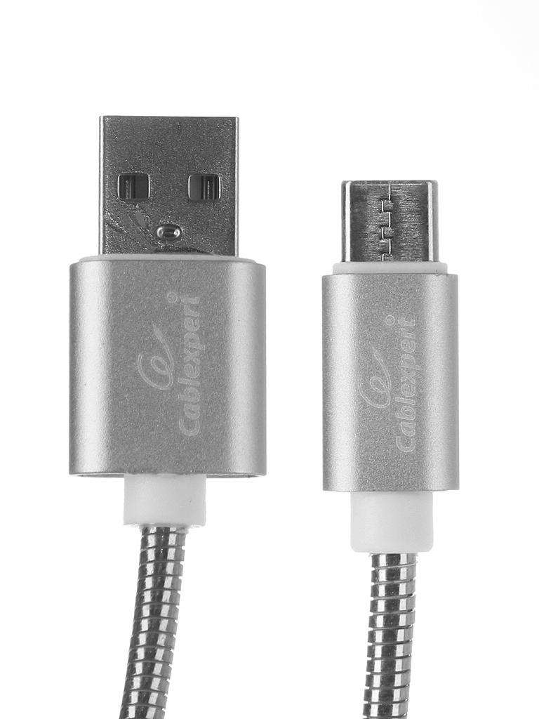 Фото - Аксессуар Gembird Cablexpert USB AM/Type-C 1.8m Silver CC-G-USBC02S-1.8M аксессуар gembird cablexpert ultra usb 2 0 am type c 3m silver cc u usbc02s 3m