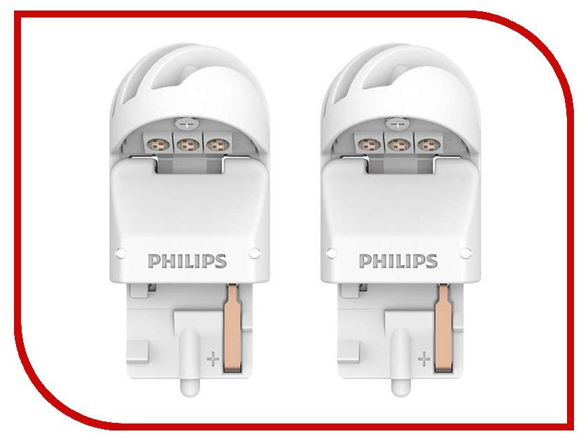Купить Лампа Philips X-treme Ultinon LED W21W 12V-LED 2.5W W3x16d Red (2 штуки) 11065XURX2