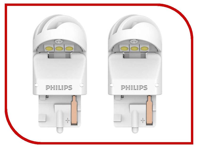 Купить Лампа Philips X-treme Ultinon LED W21W 12V-LED 2.5W W3x16d White (2 штуки) 11065XUWX2