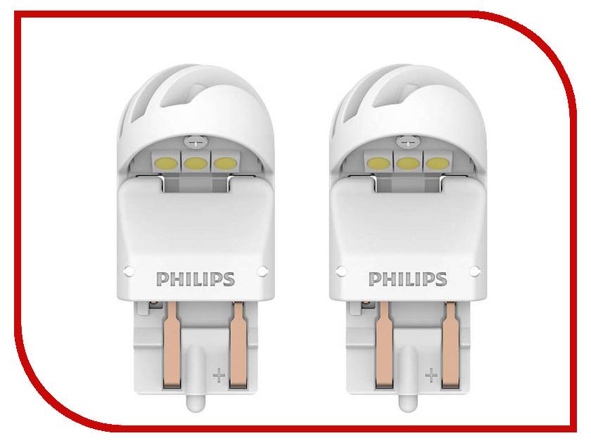 Купить Лампа Philips X-treme Ultinon LED W21/5W 12V-LED W3x16q White (2 штуки) 11066XUWX2