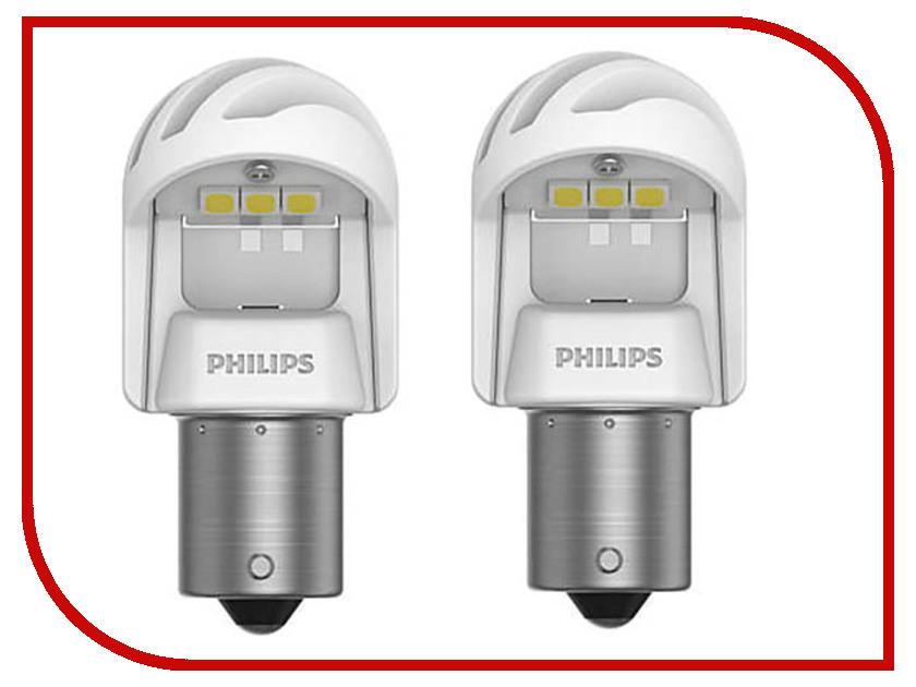 Лампа Philips X-treme Ultinon LED P21W 12V/24V- 2.7W BA15s White (2 штуки) 11498XUWX2  - купить со скидкой
