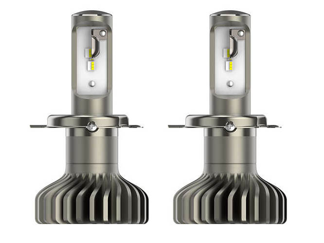 лампа philips racing vision h4 12v 60 55w p43t 150 12342rvs2 2 штуки Лампа Philips X-treme Ultinon LED H4 LED P43t 5800K (2 штуки) 11342XUWX2