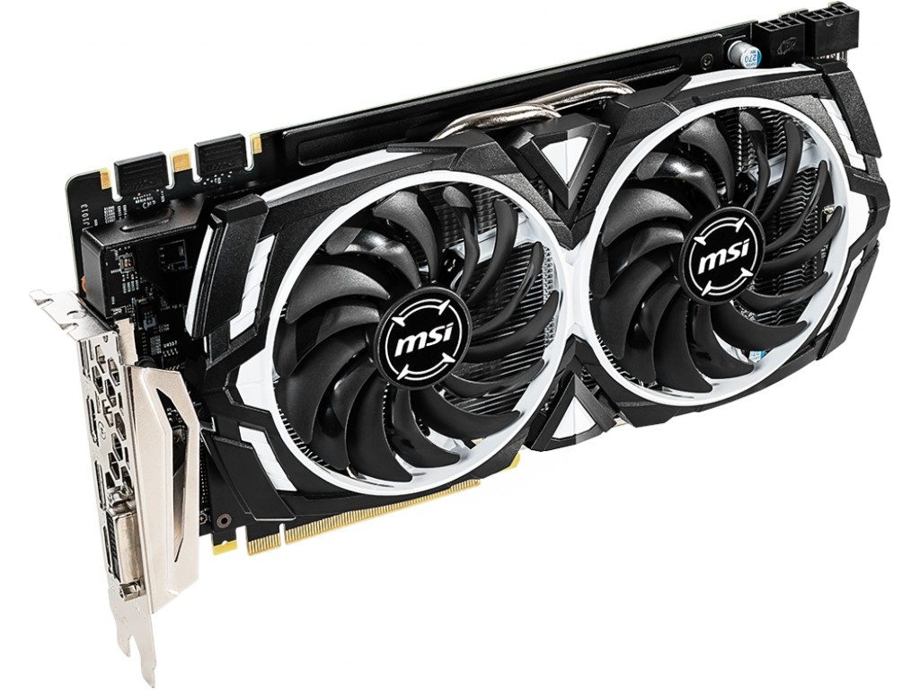 цена видеокарты gtx 650 Видеокарта MSI GeForce GTX 1060 1544Mhz PCI-E 3.0 6144Mb 8008Mhz 192 bit DVI 2xHDMI 2xDP HDCP GTX 1060 ARMOR 6GD5X OC