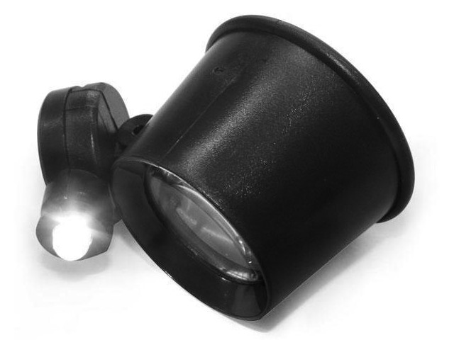Фото - Лупа часовая Kromatech MG13B-3 15x монокулярная с подсветкой 1 LED 23149b072 лупа kromatech налобная 1 2 1 8 2 5 3 5x с подсветкой 1 led mg81001 f