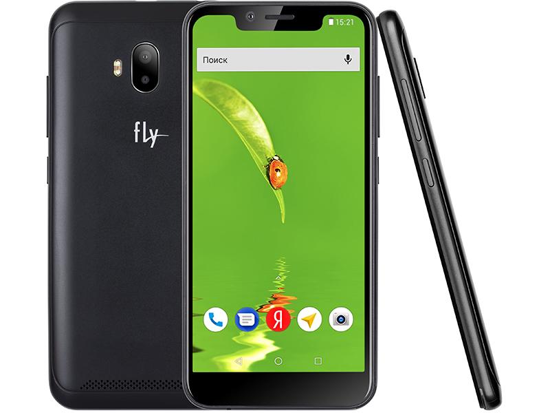 сотовый телефон fly slimline black blue Сотовый телефон Fly View LTE Black