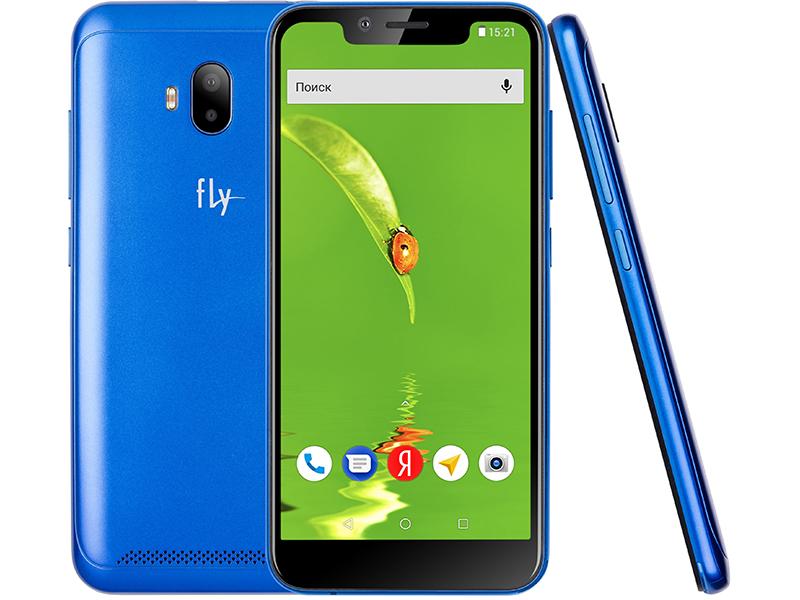сотовый телефон fly slimline black blue Сотовый телефон Fly View LTE Blue