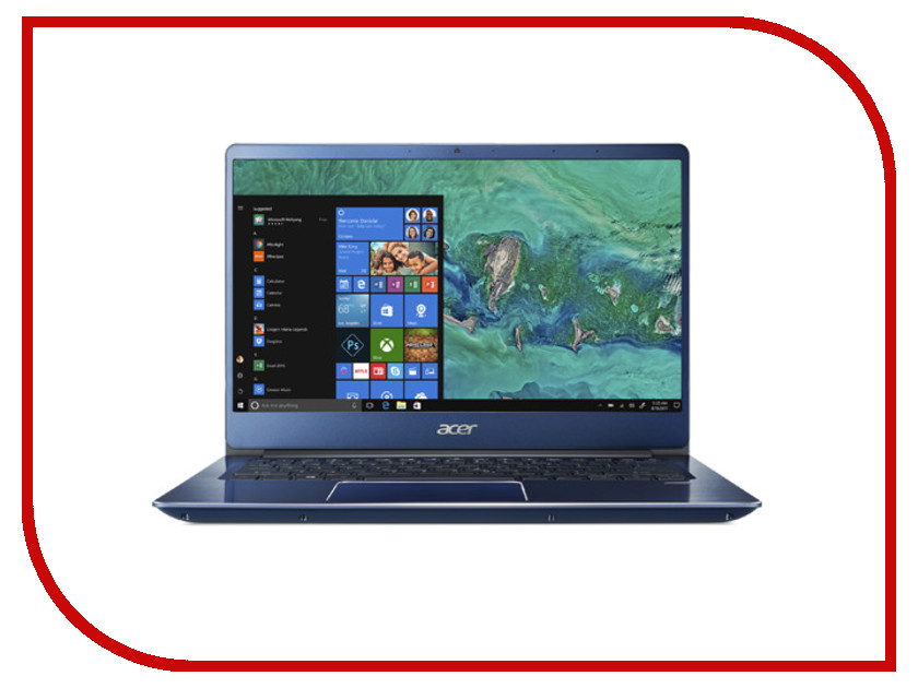 Купить Ноутбук Acer Swift 3 SF314-54G-554T Blue NX.GYJER.004 (Intel Core i5-8250U 1.6 GHz/8192Mb/256Gb SSD/nVidia GeForce MX150 2048Mb/Wi-Fi/Bluetooth/Cam/14.0/1920x1080/Linux)