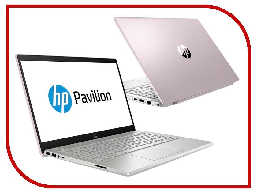 Купить Ноутбук HP Pavilion 14-ce0027ur Tranquil Pink 4GP60EA (Intel Core i5-8250U 1.6 GHz/8192Mb/1000Gb+128Gb SSD/nVidia GeForce MX150 2048Mb/Wi-Fi/Bluetooth/Cam/14.0/1920x1080/Windows 10 Home 64-bit), HP (Hewlett Packard)