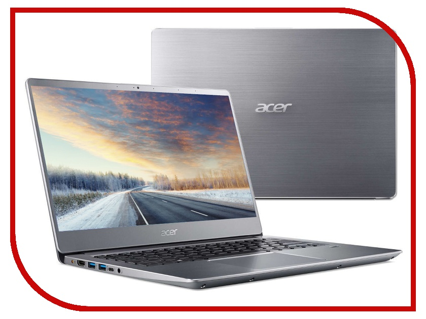 Купить Ноутбук Acer Swift 3 SF314-56-337C Silver NX.H4CER.005 (Intel Core i3-8145U 2.1 GHz/8192Mb/128Gb SSD/No ODD/Intel HD Graphics/Wi-Fi/Bluetooth/Cam/14.0/1920x1080/Linux)