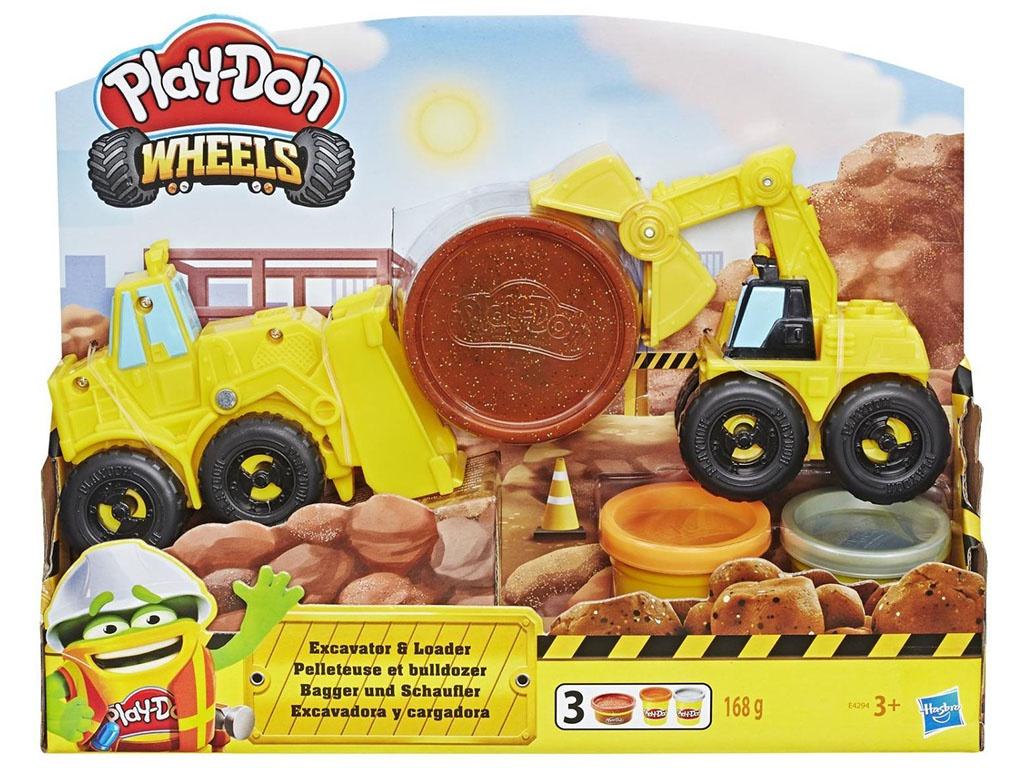 игрушка наша игрушка экскаватор снегоуборочный 6655 6 Игрушка Hasbro Play-Doh Экскаватор E4294EU4
