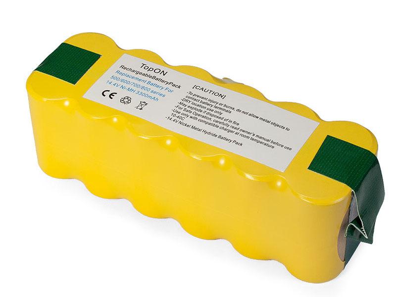 Аккумулятор TopON TOP-IRBT500-33 для Roomba 500 / 520 560 570 580 780 785 865 876 886 R3 Series. 14.4V 3300mAh PN: GD-ROOMBA-500